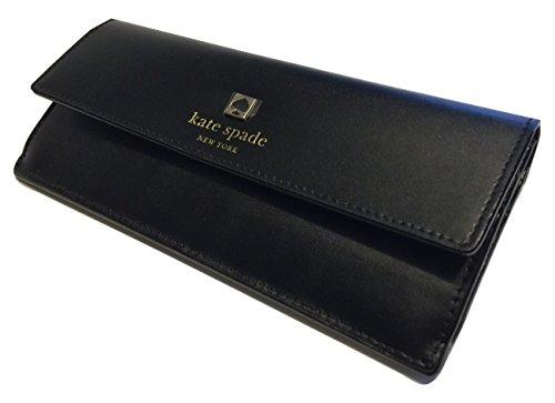 Kate Spade Sawyer Street Amelia Clutch Wallet Black Leather WLRU2006