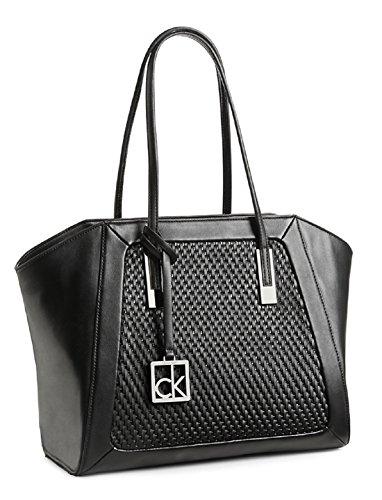Calvin Klein Nicole CityWing Shopper Tote Shoulder Bag Handbag Satchel (Black)