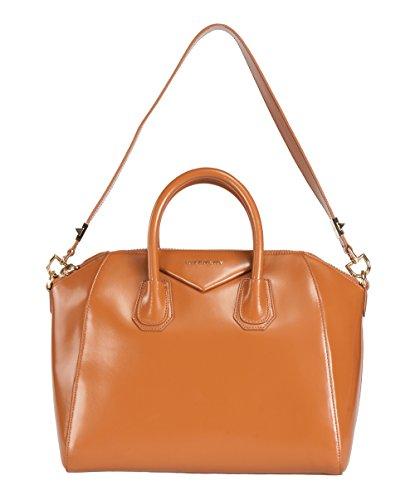 Givenchy Antigona Tan Leather Medium Satchel Bag w/ Shoulder Strap