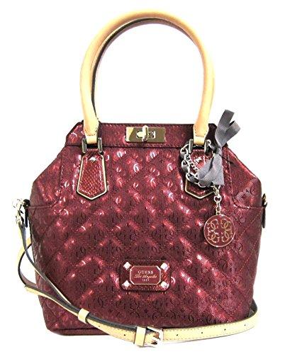 GUESS Juliet Turn-Lock Satchel Bag, Lipstick
