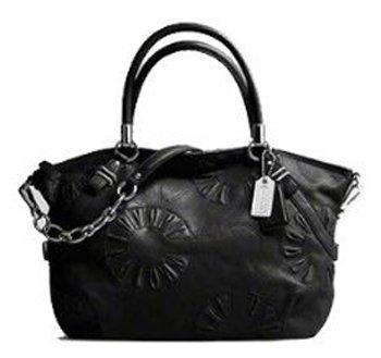 Coach Embellished Leather Sophia Convertiable Shoulder Bag Tote 16343 Black