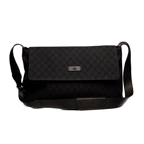 Gucci Handbags Black Canvas and Leather 272350 (Messenger)