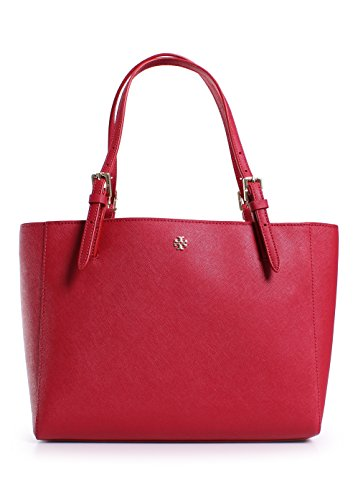 Tory Burch York Small Buckle Tote in Kir Royale