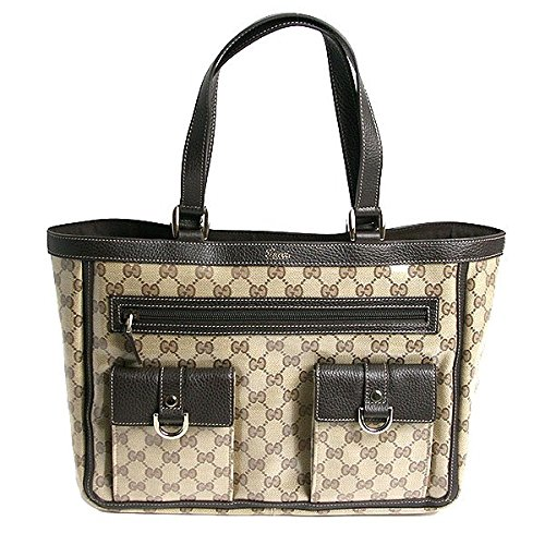 Gucci Abbey Beige Crystal Coated Canvas Tote 268639