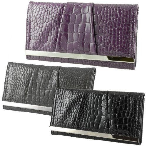 Kenneth Cole Reaction Womens Croco Clutch Barcelona MSRP: $50 Special Sale Price New!