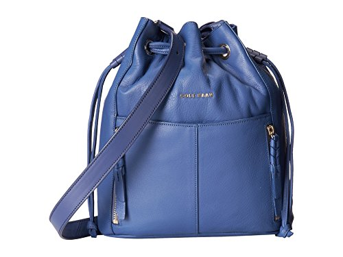 Cole Haan Felicity Drawstring Washed Indigo Shoulder Bag