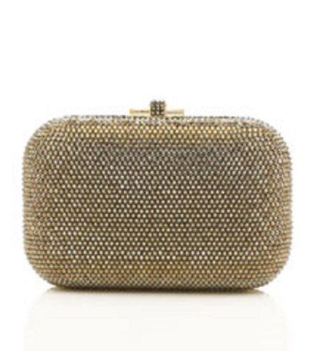 NEW Judith Leiber Classic Slide Lock Crystal Minaudiere Clutch-bronze-limited Edition- Retail $1995