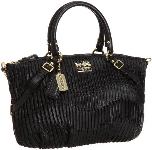 Coach 15942 Gathered Leather Sophia Handbag Black