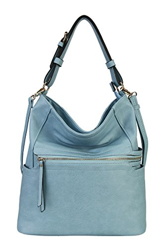 Rimen & Co. Simpilicity Front Zipper Causal Hobo Hand Bag