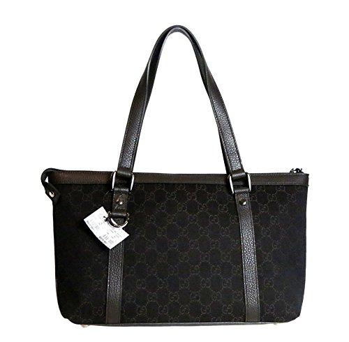 Gucci Women's Gg Guccissima Canvas Zipper Tote Bag in Brown