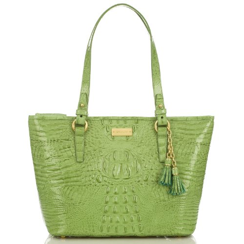 NEW AUTHENTIC BRAHMIN MEDIUM ASHER SHOULDER TOTE (Aloe Glossy Melbourne)