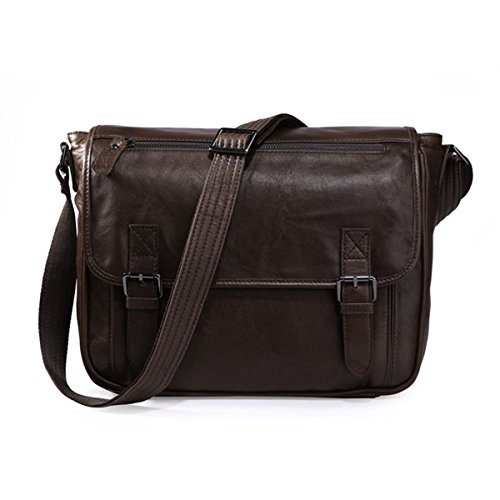 Fenarzo Unisex Leather Shoulder Satchel Bag Casual Cross Body Bag Small