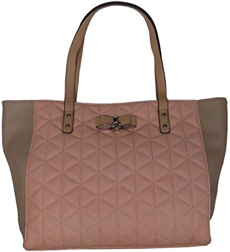 "Jessica Simpson Women's Large ""Hailey"" Tote Handbag, Peach,Mushroom, Almond"