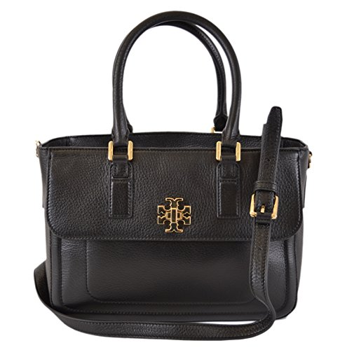 Tory Burch Black Leather Mini Mercer Convertible Handbag Purse