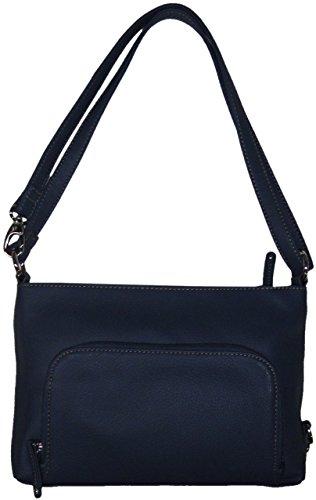 "Tignanello Women's Genuine Pebble Leather E/W ""Convertible Bucket Bag"" Xbody, Indigo Blue"