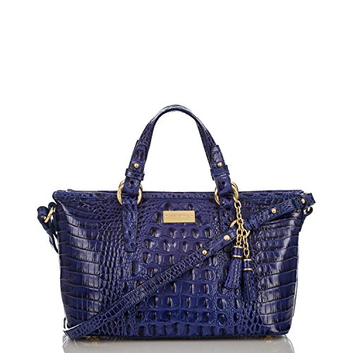 NEW AUTHENTIC BRAHMIN MINI ASHER CARRYALL TOTE (Turkish Blue Melbourne)