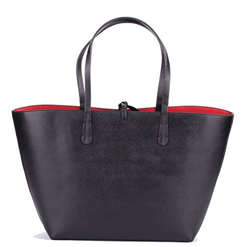 Alengo Women's Large Tote Bag Leather Clasp Double-sided Shopping Shoulder Handbag