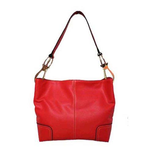 Tosca Classic Medium Shoulder Handbag,Medium,Light Red