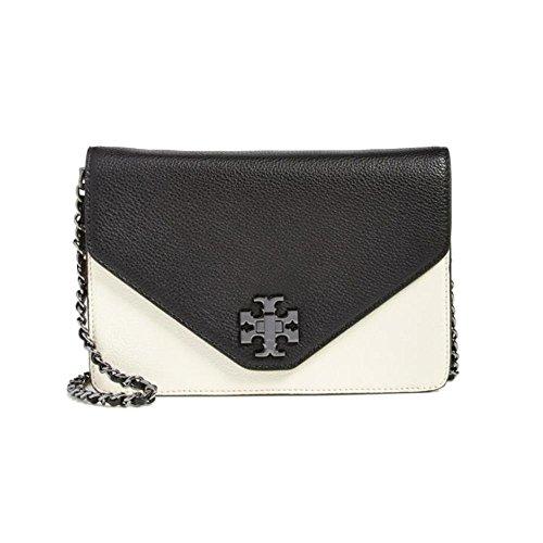 Tory Burch Kira Envelope Womens Black Wallet Leather Clutch