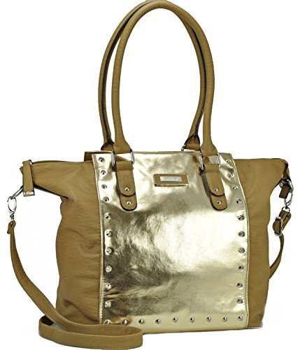 Kenneth Cole Reaction Brook Street Tote, Pale Gold/Fawn