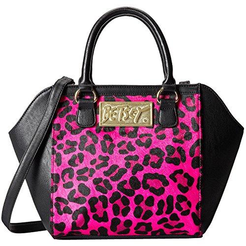 Betsey Johnson Fur Real Satchel Shoulder Bag