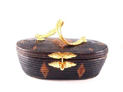 Premium Thai Traditional Handmade Woman Handbag / Clutch – Yan Lipao with Gold Plate Strap / Handle