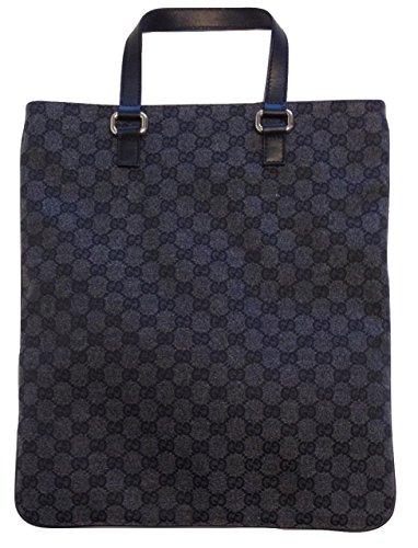 Gucci GG Guccissima Grey Canvas Leather Tote 272347