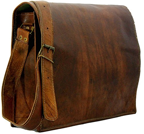 HandMadeCart Genuine Leather Messenger Shoulder Laptop Satchel Vintage Leather Bag