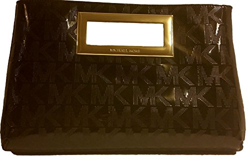 Michael Kors Berkley Clutch Black Monogram Leather