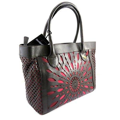 Leather bag 'Desigual'dark brown red.
