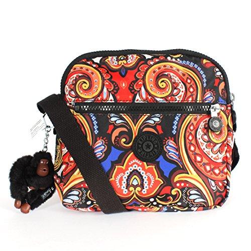 Kipling Keefe Print Shoulder Bag Crossbody Warm Paisley