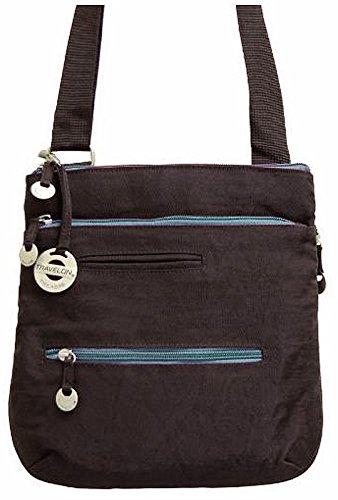 Travelon City Cross Body Bag – Chocolate Brown