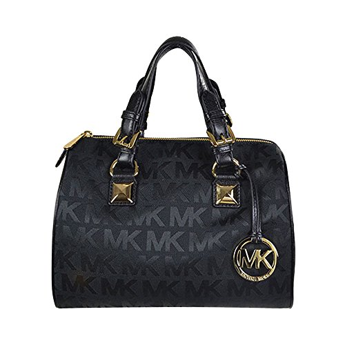 MICHAEL Michael Kors Grayson Medium Satchel Black Black