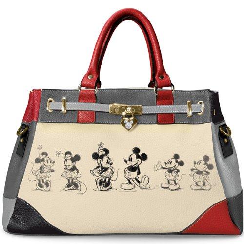 Handbag: Disney Mickey And Minnie Love Story Handbag by The Bradford Exchange