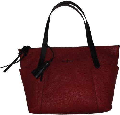 Cole Haan Handbag Parker Small Zip Top Shopper Velvet Red