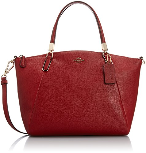 Coach Small Kelsey Crossbody in Pebbled Leather in Red