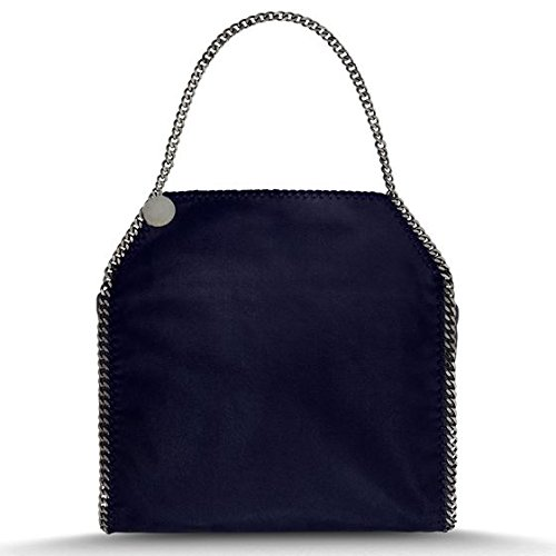 Stella Mccartney Navy Falabella Shaggy Deer Big Tote New