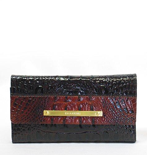 Brahmin Leather Zip Around Wallet Clutch
