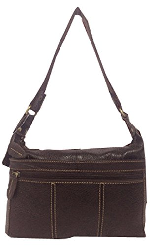 Heshe 2015 New Genuine Leather Fashion Casual Vintage Double Use Crossbody Shoulder Bag Satchel Double Zippered Purse Handbag for Women