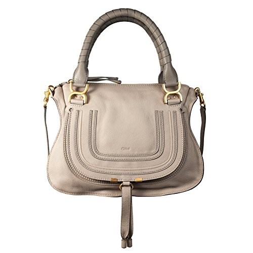 Chloé Marcie large light motty grey satchel Bag