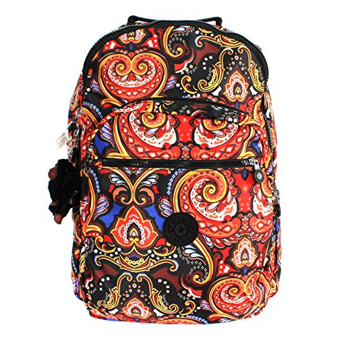 Kipling Seoul Print Backpack with Laptop Protection Warm Paisley