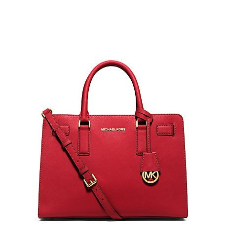 Michael Kors Dillon Ew Satchel Red Leather