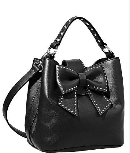 Betsey Johnson Handbag HOPELESS ROMANTIC BUCKET TOTE Black