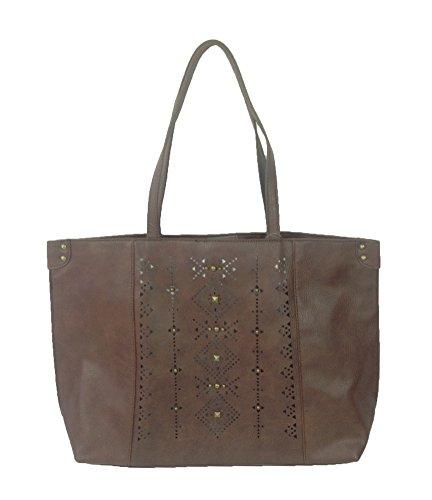 Lucky Brand Newport Vegan Leather Tote Bag, Mocha