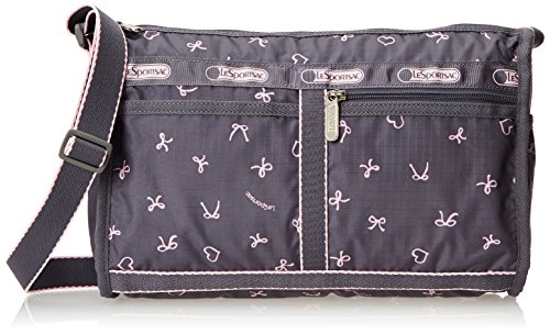 LeSportsac Deluxe Shoulder Satchel, Dancing Bows, One Size