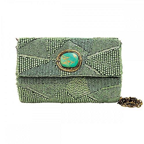 Mary Frances Aquamarine Handbag