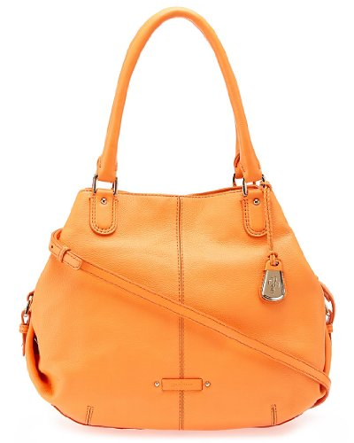 Cole Haan Women's Fairview Devin Leather Tote, Creamsicle, One Size