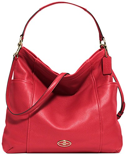 Coach Gallery Hobo in Leather 33436 – Red
