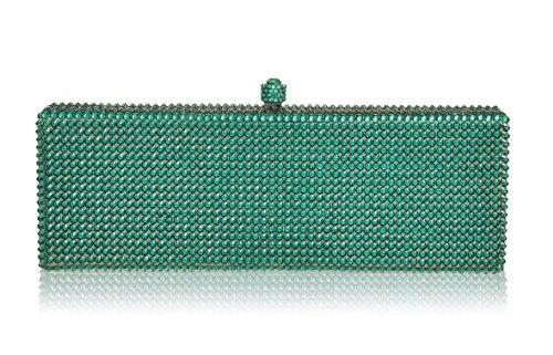 Emerald Box Crystal Clutch