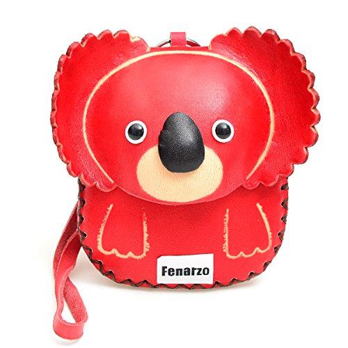 Fenarzo Handmade Genuine Leather Koala Wristlet Coin Purse